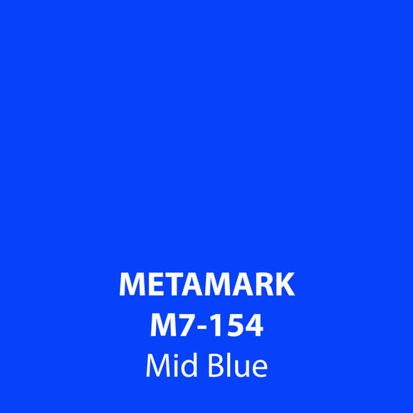 Mid Blue Gloss Vinyl M7-154, Metamark 7 Series, self-adhesive, sticky back polymeric sign making vinyl