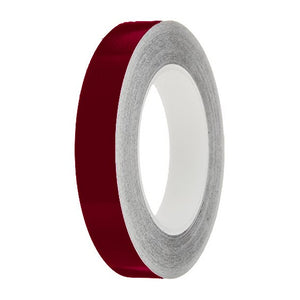 Burgundy Gloss Colour Pin Stripe tapes, 50m roll, sticky self-adhesive, vinyl decal line tape