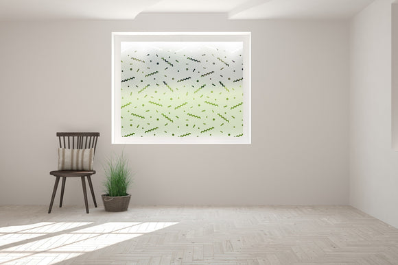 Mixed Shape Print Pattern Bespoke Custom Frosted Window Film