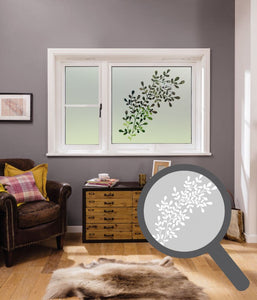 Olive Branch Cut Out Bespoke Custom Frosted Window Film