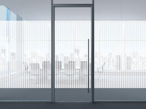 Patterned Decorative White Frosted Window Film - Privacy Frosted Glass Film BOREL WHITE DOTS
