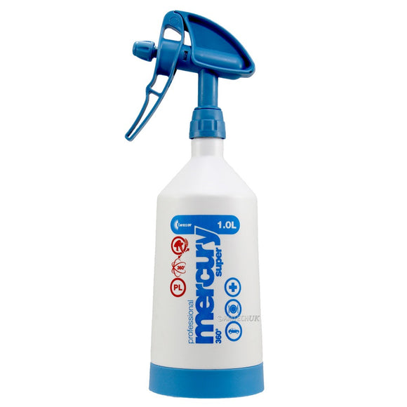 Mercury Pro Spray Trigger Bottle 1L- Twin Action Power Sprayer Pro Window Tool
