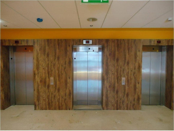 Cover Styl' - F2 Rich Brown Wood Self Adhesive Sticker, Vinyl Window Wall Door Furniture Covering