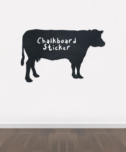 BB11 - Bespoke Cow chalkboard sticker, beautiful blackboard vinyl cut sticker, self adhesive easy install