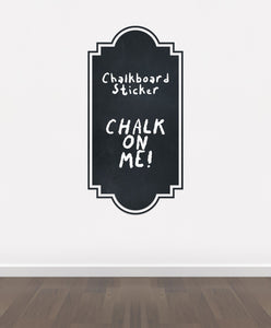 BB8 - Bespoke Frame chalkboard sticker, beautiful blackboard vinyl cut sticker, self adhesive easy install