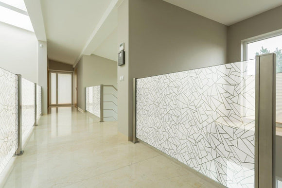 Misfit Contemporary Tiled Window Film Pattern