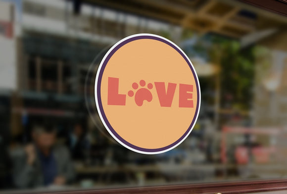 P10  - Bespoke love pet shop / vets, window sticker, high quality, vinyl sticky back plastic, Commercial Window Glass Stickers