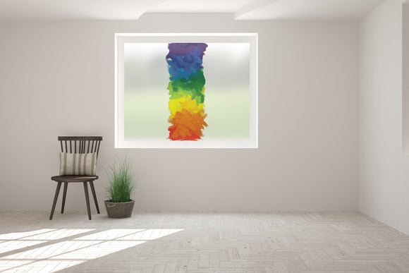 Multi Coloured Brush Stroke Bespoke Print Custom Frosted Window Film