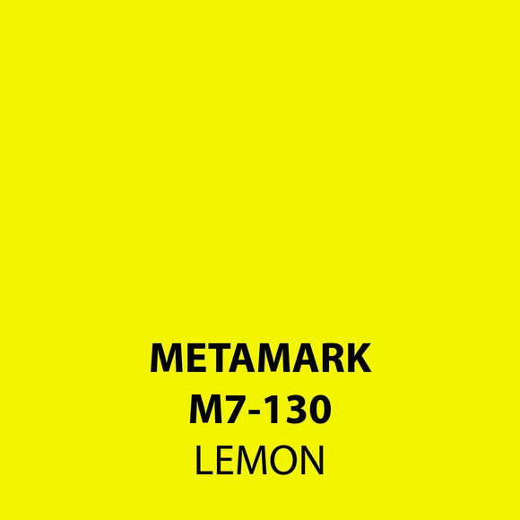 Lemon Gloss Vinyl M7-130, Metamark 7 Series, self-adhesive, sticky back polymeric sign making vinyl