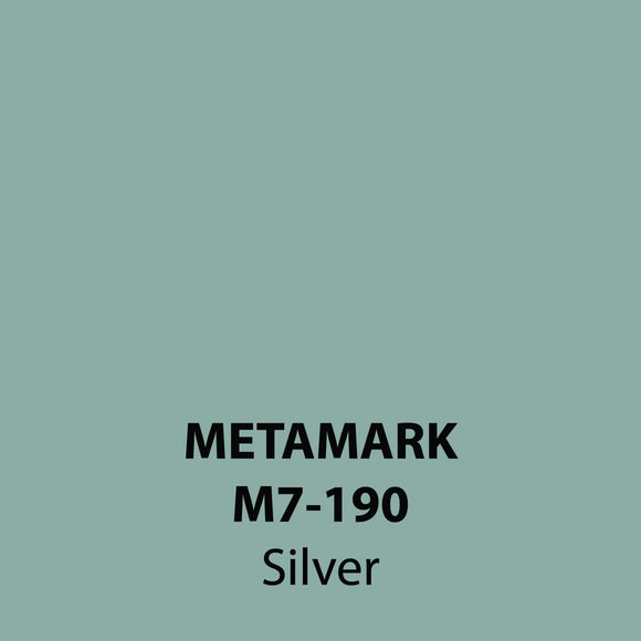 Silver Gloss Vinyl M7-190, Metamark 7 Series, self-adhesive, sticky back polymeric sign making vinyl