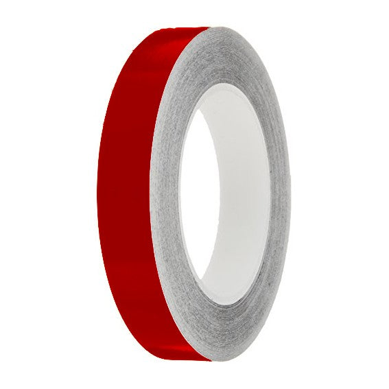 Deep Red Gloss Colour Pin Stripe tapes, 50m roll, sticky self-adhesive, vinyl decal line tape