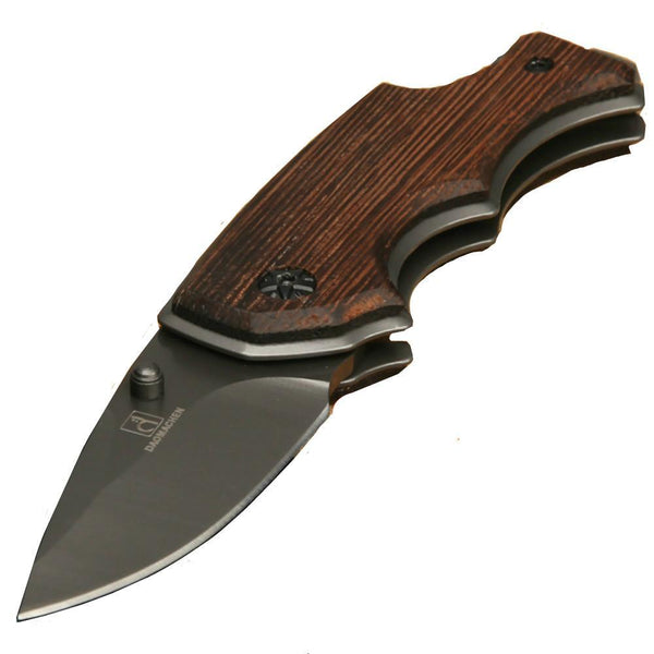 Folding Pocket Knife - Wood Handle