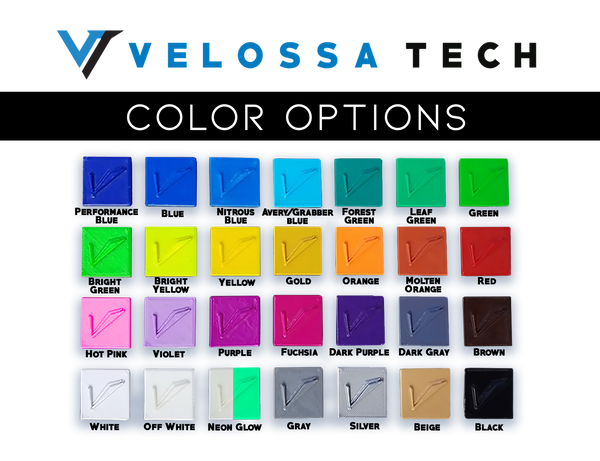 Color Palette for BIG MOUTH Ram Air Intake Snorkels | Velossa Tech Design
