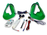 Ford S550 Mustang Dual Ram Air Intake Snorkels - Lit Kit - Green | Velossa Tech Design