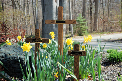 Three Wood Temporary Memorial Grave Markers