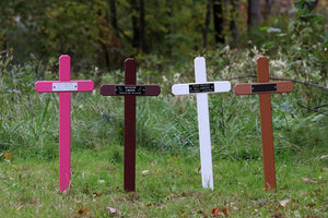 Plastic Cross Memorial Markers