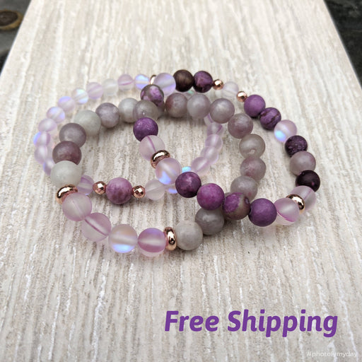 Syringa Lilac stack Bracelet Set - Bought It Local