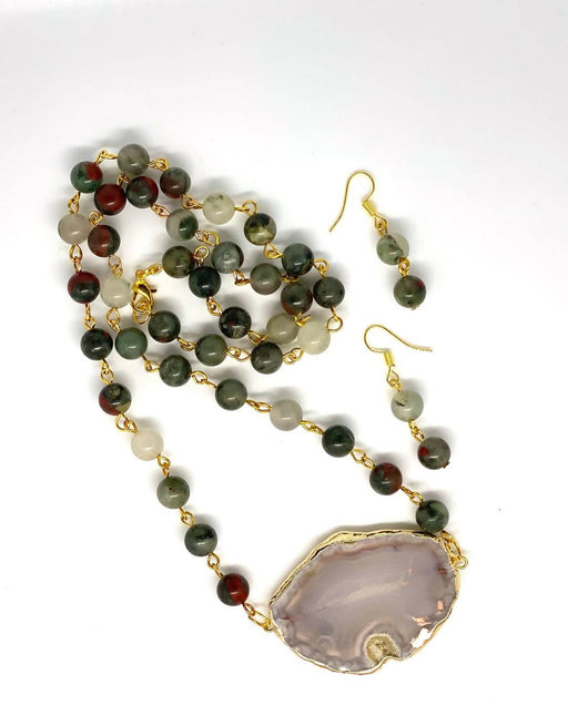 African bloodstone necklace - Shop HamOnt