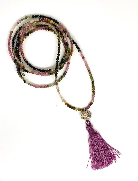 Rainbow tourmaline necklace - Shop HamOnt