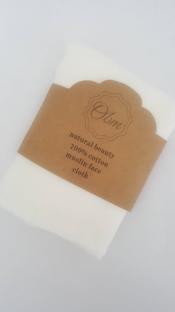 Cotton Muslin Face Cloth (Pack of 3)