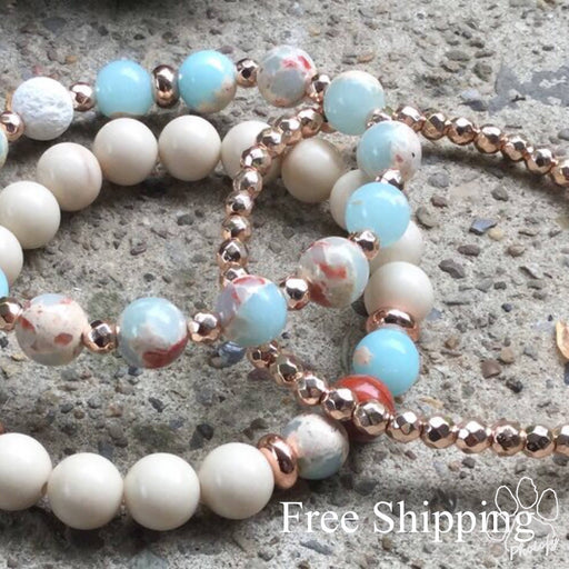 Ocean Floor Bracelet Set / Essential Oil Diffuser - Bought It Local