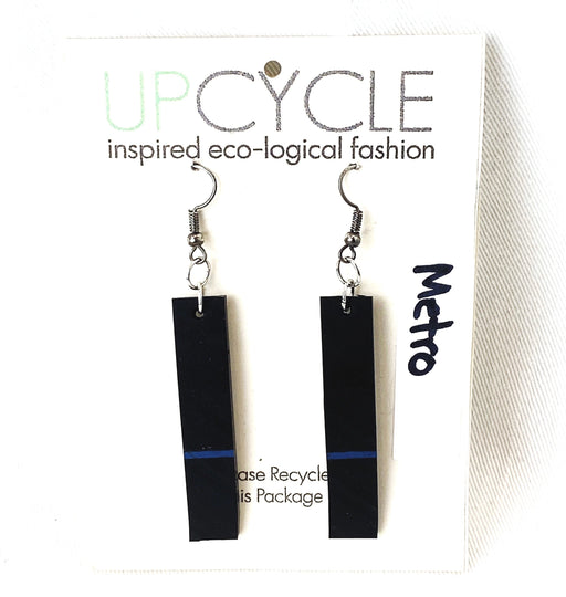 Metro UPCYCLE Rubber Earrings - Shop HamOnt