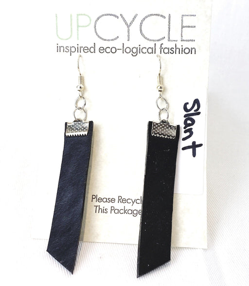 Slant UPCYCLE Rubber Earrings - Shop HamOnt