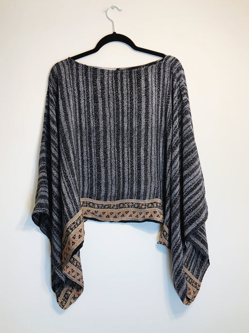Everette Pure Silk Kimono-Sleeved Top - Shop HamOnt
