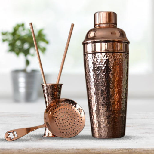 Pure Copper 3 Piece Bar Set - Shop HamOnt