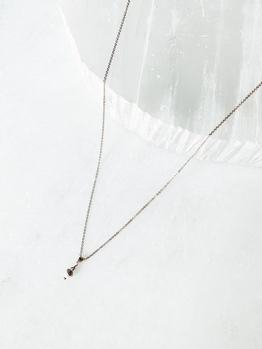 Clara | Dainty Pearl Necklace - Shop HamOnt