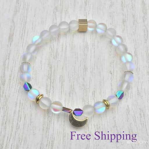 Rainbow Goddess Moon Bracelet - Bought It Local