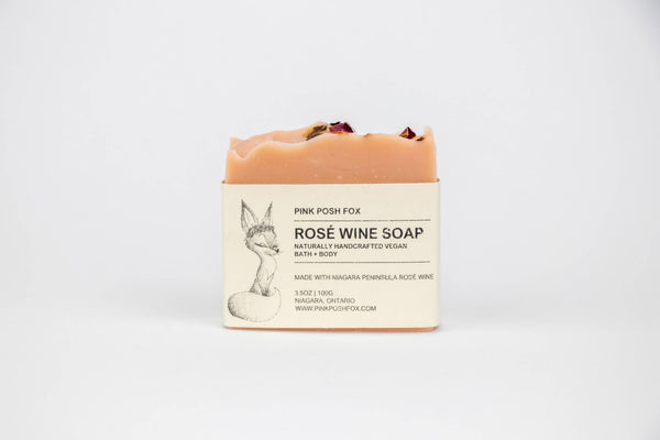 Rosé Wine Soap with local Niagara Wine - Shop HamOnt