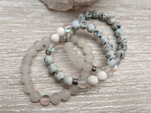 Shimmer Stack Bracelet Set / Essential Oil Diffuser - Bought It Local