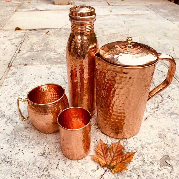Pure Copper Mug with Brass Handle - sariKNOTsari slow fashion Hamilton sustainable fashion gifts sari not sari Hamilton Fair trade  Ethical  Artisan made  Zero waste  Up-cycled Slow Fashion  Handmade  GTA Toronto Copper Pure Upcycled vintage silk handmade recycled recycle copper pure silk travel clothing hamilton