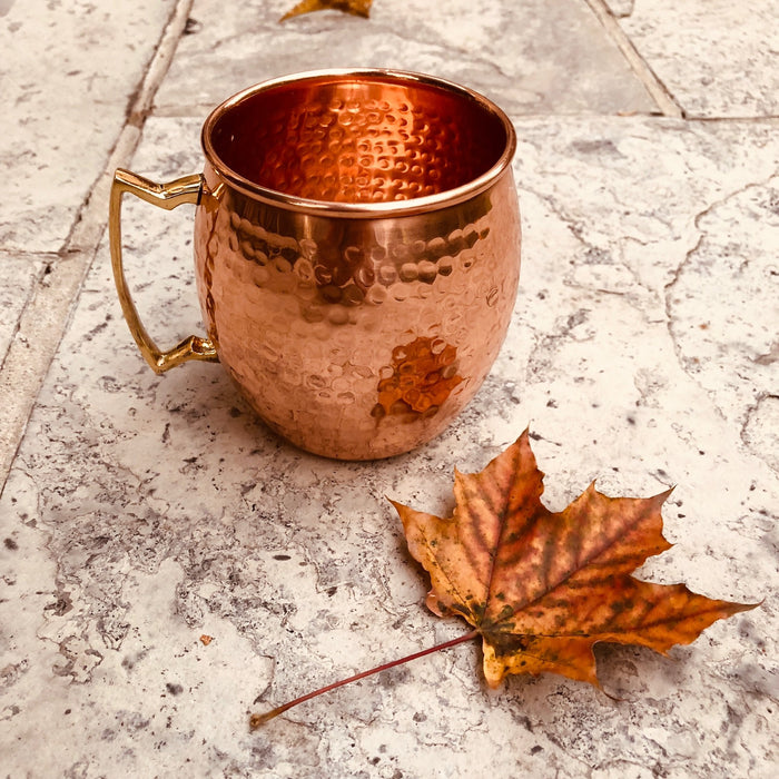 Pure Copper Mug with Brass Handle - Shop HamOnt