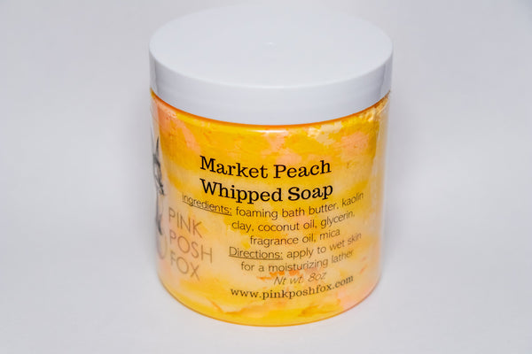 Market Peach Whipped Soap - Shop HamOnt