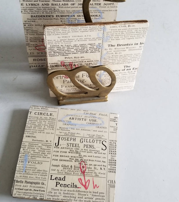 Collage Coasters - Vintage Text - Shop HamOnt