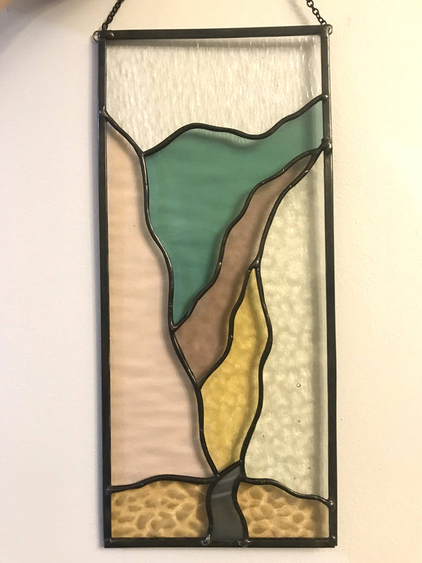 """Mountain Pass"" Stained Glass Panel - Shop HamOnt"