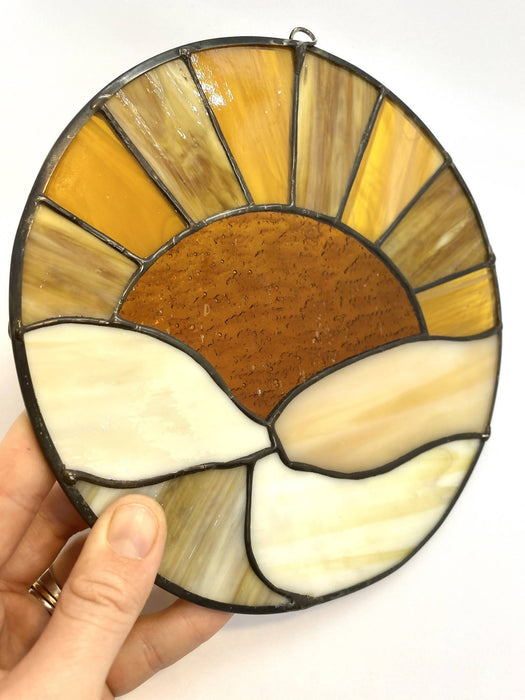 Stained Glass Rising Sun Suncatcher - Bought It Local