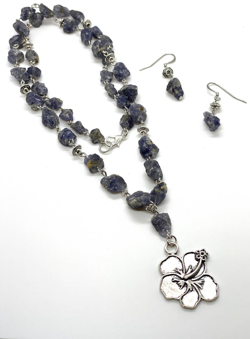 Raw Iolite necklace - Shop HamOnt