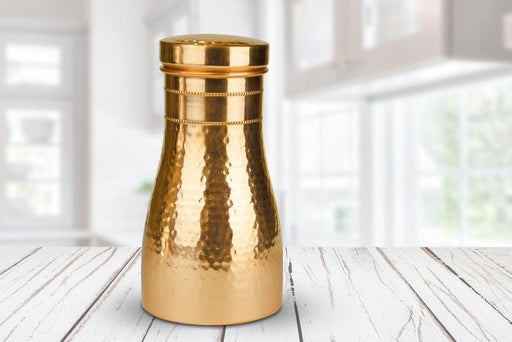 Pure Copper Water Carafe  with Lid - Shop HamOnt