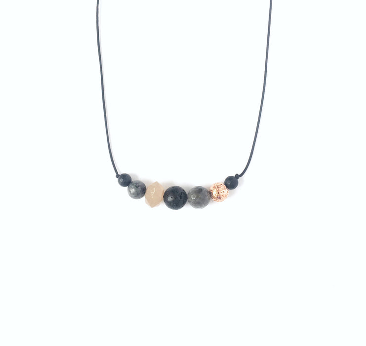 """Pleasantly Peach"" Diffuser Necklace - Shop HamOnt"