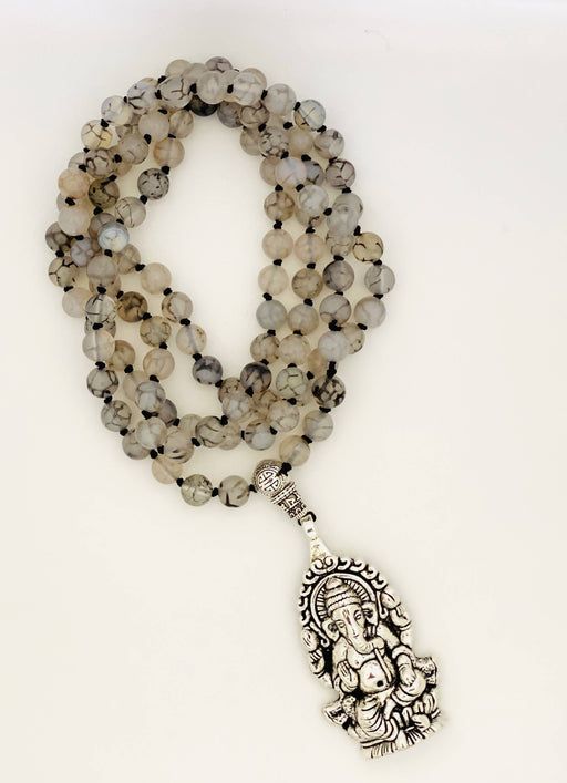 Dragon's vein agate mala - Shop HamOnt