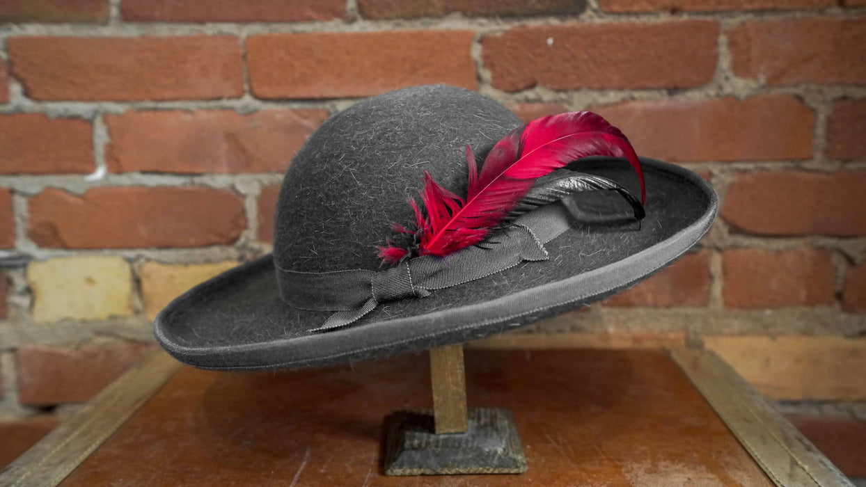 Women's Grey Wool Felt Hat - Shop HamOnt