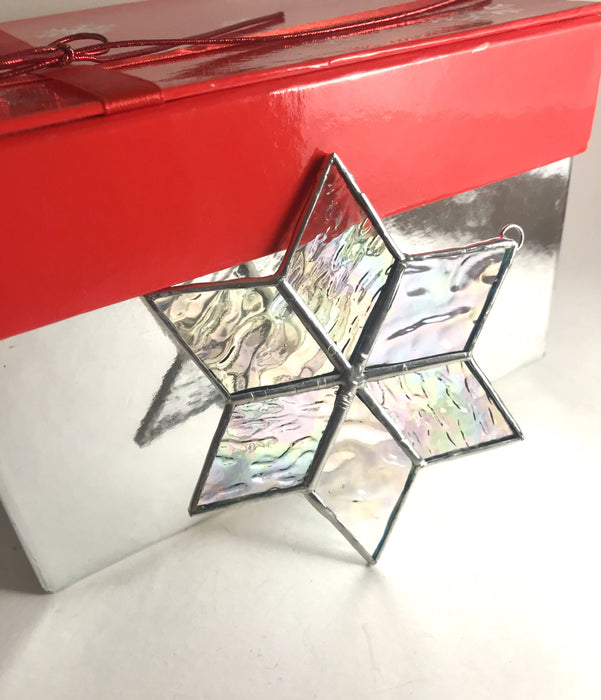 Stained Glass Iridescent Christmas Star - Shop HamOnt