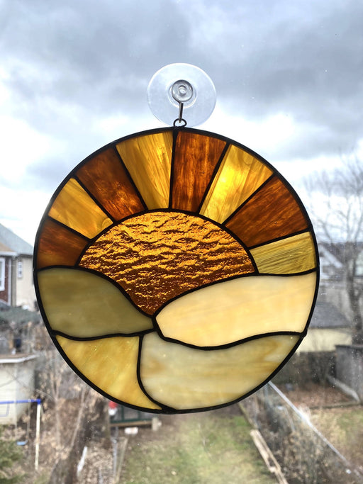 Stained Glass Rising Sun Suncatcher - Shop HamOnt