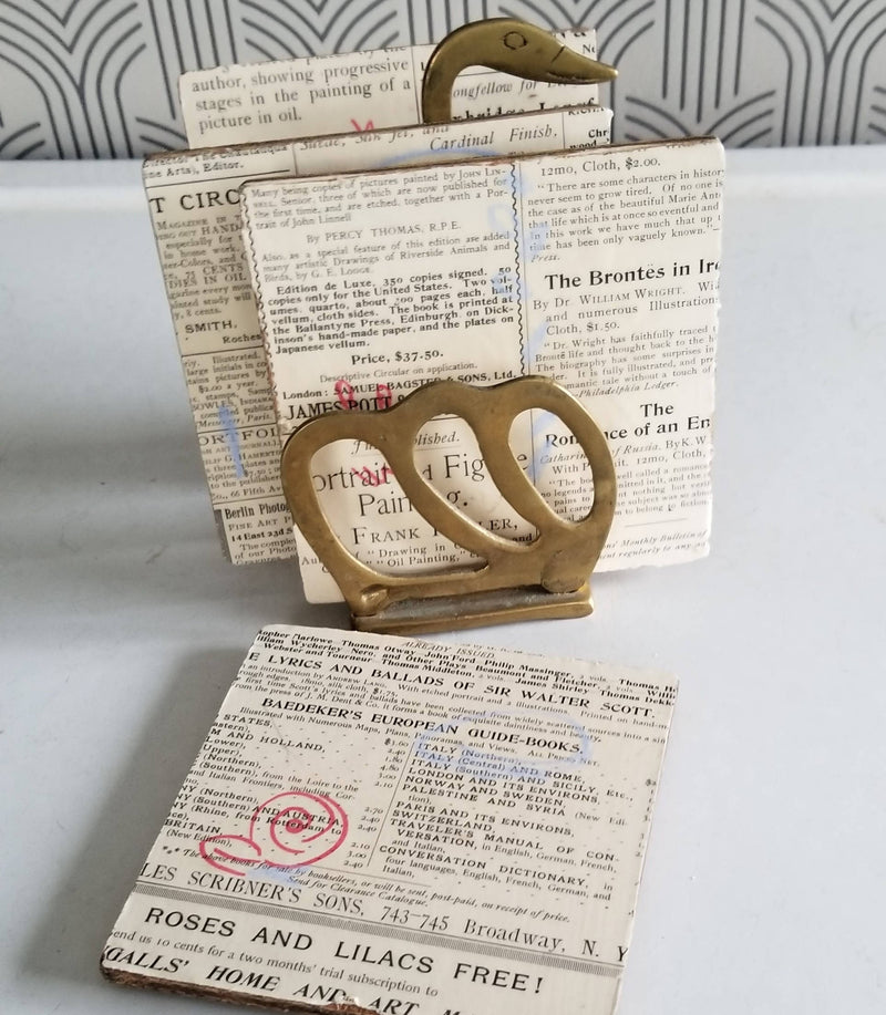 Collage Coasters - Vintage Text