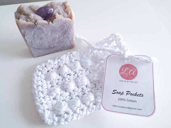 Soap Pocket/Saver - White - Shop HamOnt
