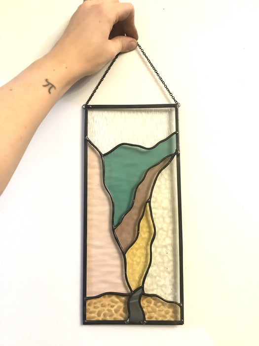 """Mountain Pass"" Stained Glass Panel - Bought It Local"