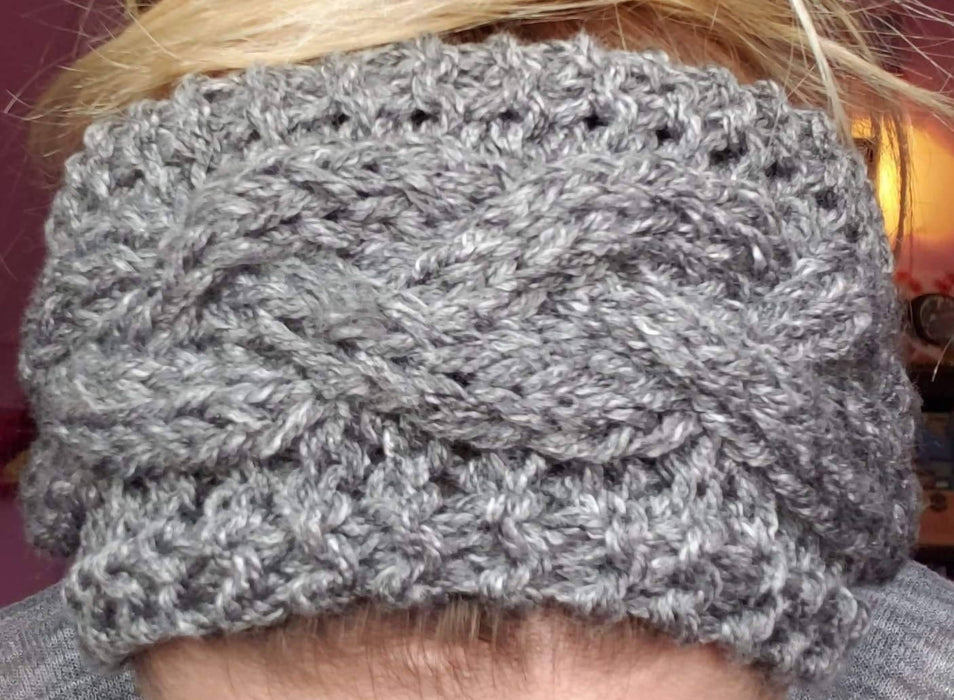 Cable Knit Headband - Grey